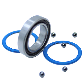 6802-2RS Hybrid Ceramic Bearing 15x24x5 mm ABEC-1 ( 1 PC ) Bicycle Bottom Brackets & Spares 6802RS Si3N4 Ball Bearings image