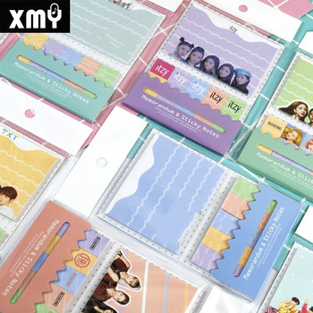 Kpop Blackpink GOT7 EXO Monsta X TXT STRAYKIDS Симпатичный мини-блокнот с клейкой надписью, канцелярские принадлежности, памятки, поставки наклеек