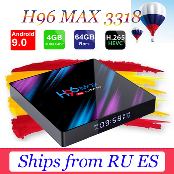 H96 Max RK3318 Smart TV Box Android 9.0 Media player 2.4G/5G Wifi TB4.0 H96 Max YouTube 4G 64G 4K HDR Box support Spain Brazil h96 max h2 4g 32g tv box android 7 1 rk3328 quad core set top box support 2 4g 5g wifi bt4 0 usb3 0 hdr10 4k vp9 media player