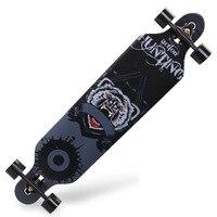 Professional Complete Longboard Skateboard Four wheel Maple Street Dancing Longboard Skate Board