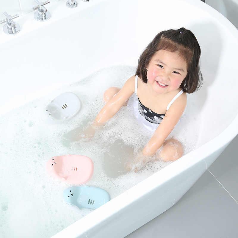Moda plastikowy pojemnik na mydło Cartoon kształt podwójne Plaid tacka na mydło gospodarstwa domowego łazienka prysznic Travel Camping mydelniczka