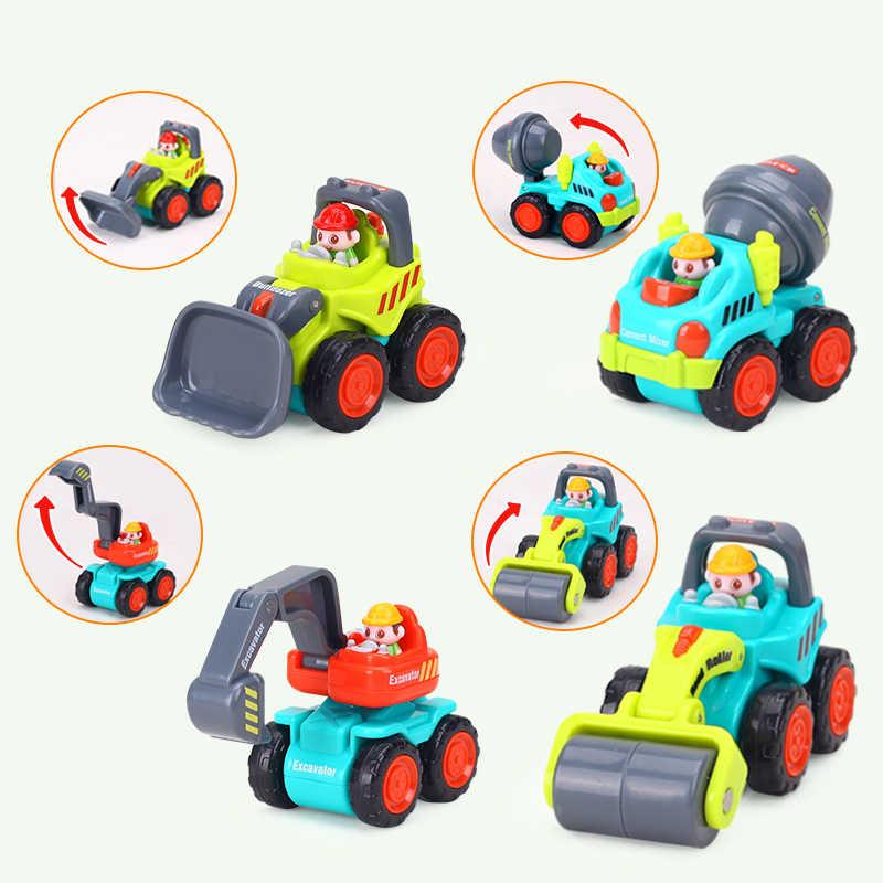 HOLA 3116C bébé jouets véhicule de Construction voitures-chariot élévateur, Bulldozer, rouleau de route, pelle, camion à benne basculante, tracteur jouets pour garçon