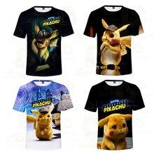 T-shirt Movie Detective Pikachu 3D Printed Boys Girls Clothes Tshirt New T Shirt Kids Cute Tee Round Neck Summer Tops forrest gump romance drama movie peas and carrots juniors v neck t shirt tee