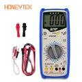 Цифровой мультиметр HONEYTEK DT9208A  переменный ток  постоянный ток  ЖК-дисплей  электрический портативный вольтметр  амперметр  Омметр  измерител...