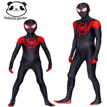 Parent-child Spiderman Costume New Spider-Man Into The Spider-Verse Miles Morales Cosplay Zentai Suit Halloween