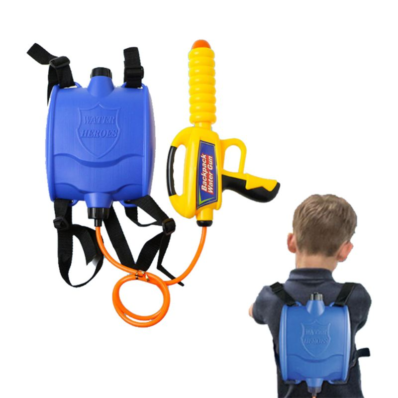 Water Gun Backpack Super Soaker Water Blaster Pump Squirt For Kids Girls Long Range Large Capacity With Tank Outdoor Toys Q6PD