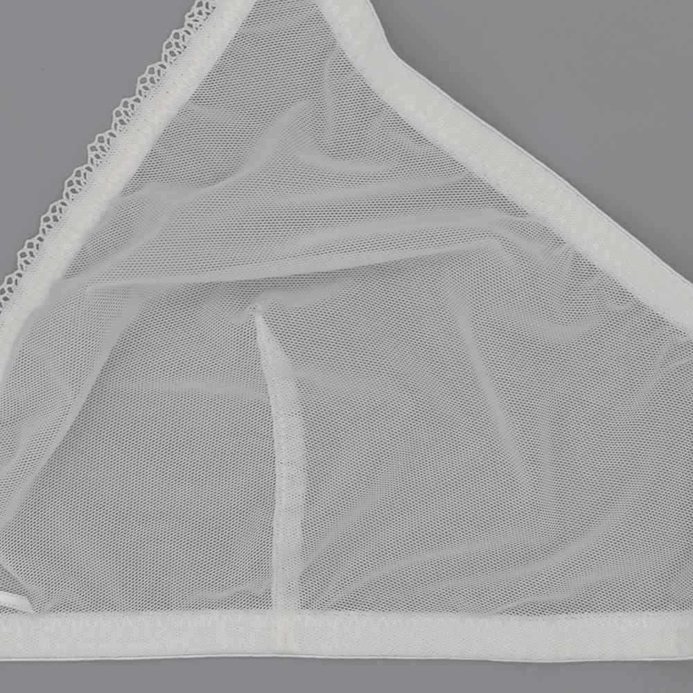 4 шт., комплект прозрачного нижнего белья, бюстгальтер без косточек
