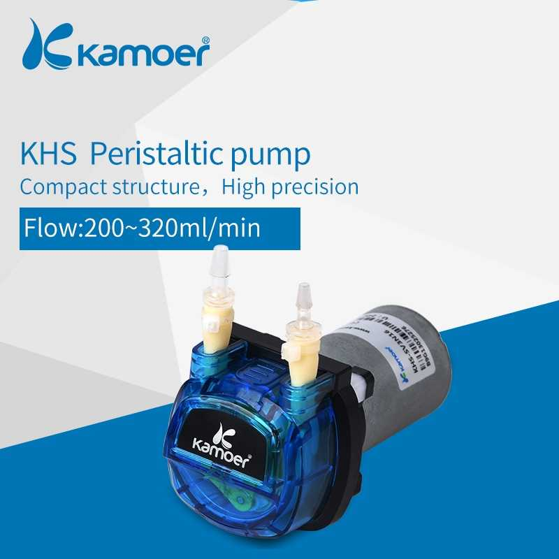 Kamoer KHS 12V/24V mini peristaltic water pump with DC motor for household electric