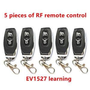 5 peças 433 mhz controle remoto de rádio freqüência código aprendizagem 1527 ev1527 para porta da garagem controlador alarme 433 mhz incluindo