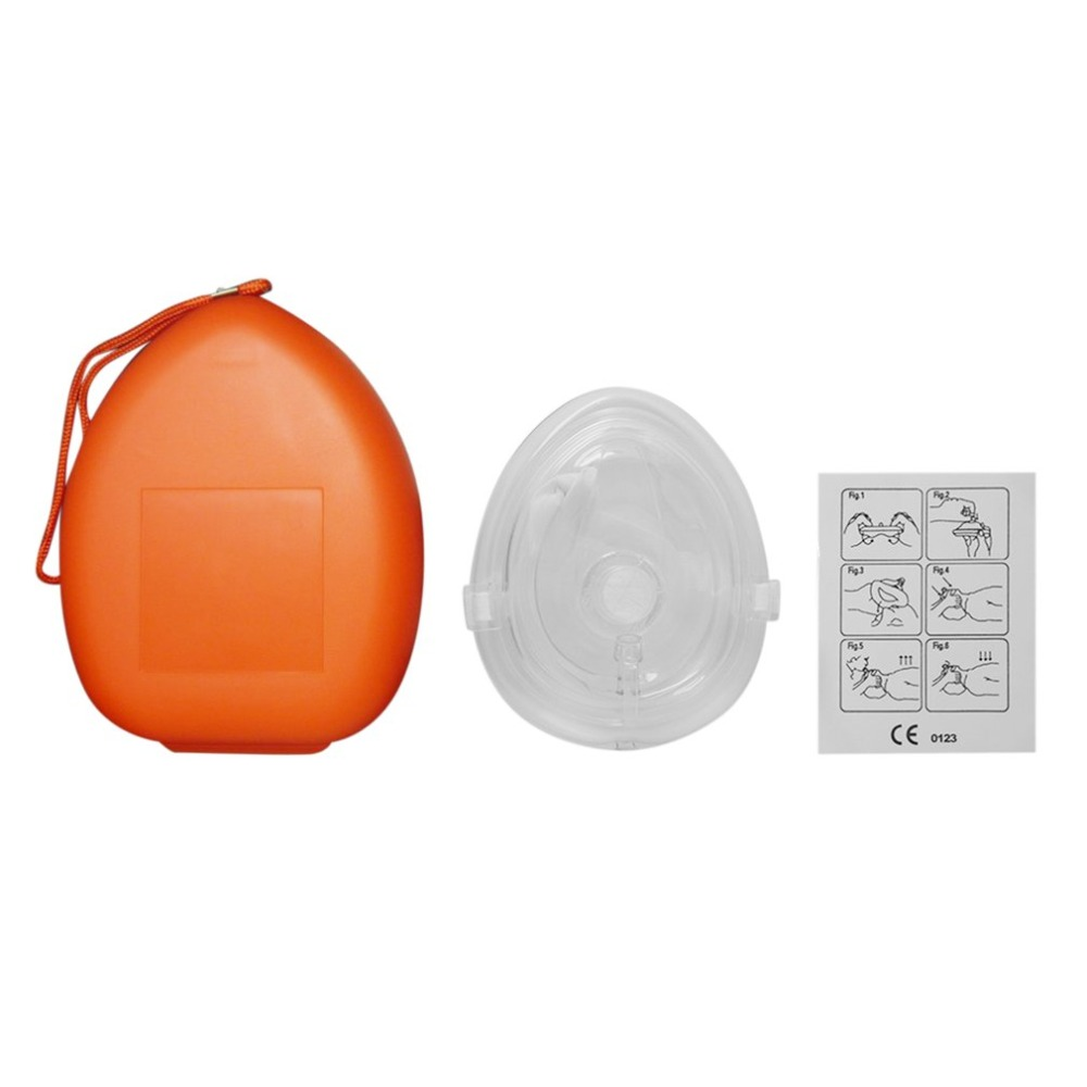 Image 3 - Professional CPR Face Protect Mask With One way Valve For First  Aid Rescuers Training Teaching Kit Breathing Mask Medical ToolCycling  Face Mask
