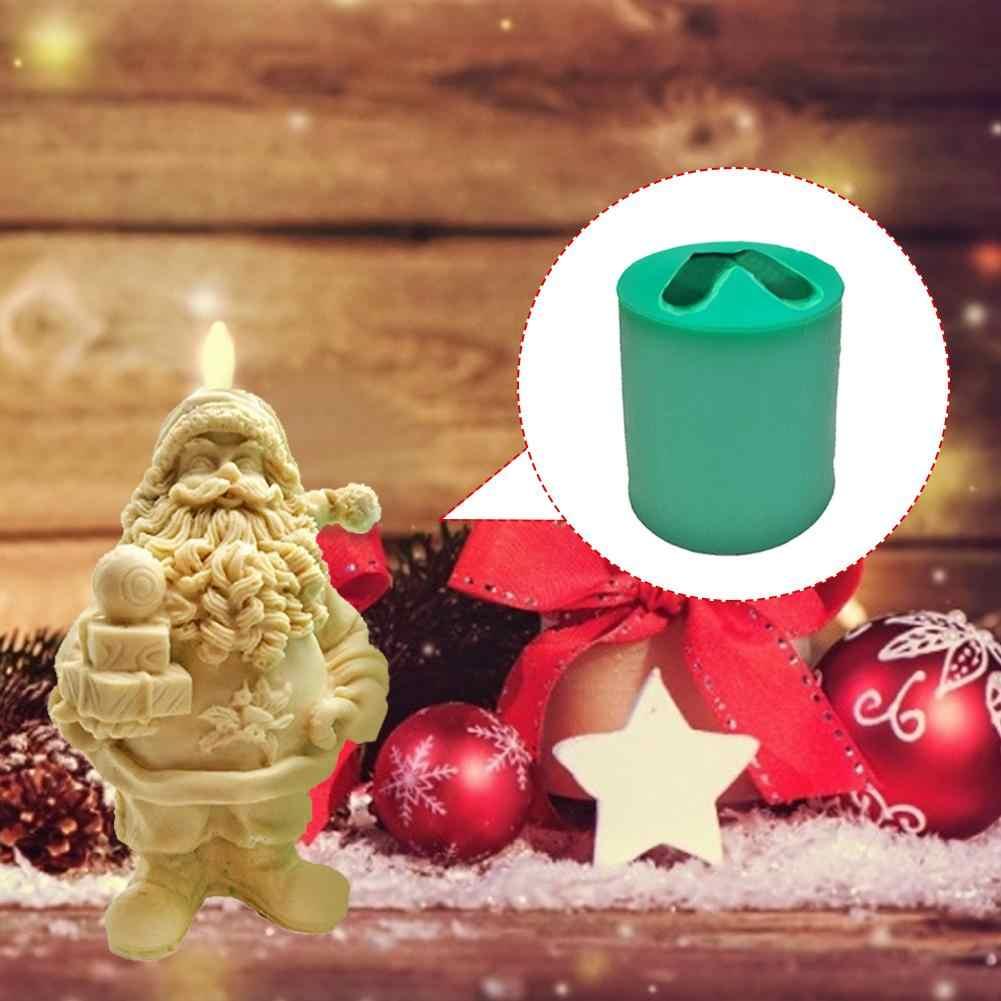 Molde de Resina de Navidad Santa Molde de Silicona 3D de Santa Claus Molde de Resina epoxi Reutilizable para Manualidades de estatuillas de Bricolaje laiyin Molde de Silicona de Resina