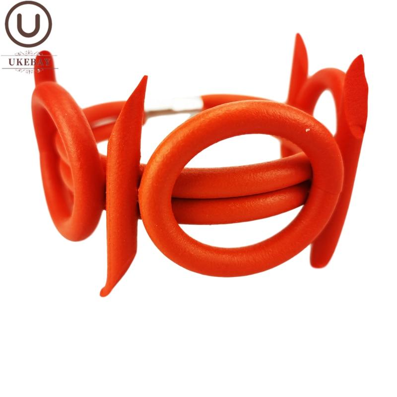 UKEBAY новые готические браслеты для женщин оригинальный дизайн очаровательный браслет Многоцветный резиновый браслет подарок ювелирные изделия 7 цветов часы браслет|Браслеты|   | АлиЭкспресс