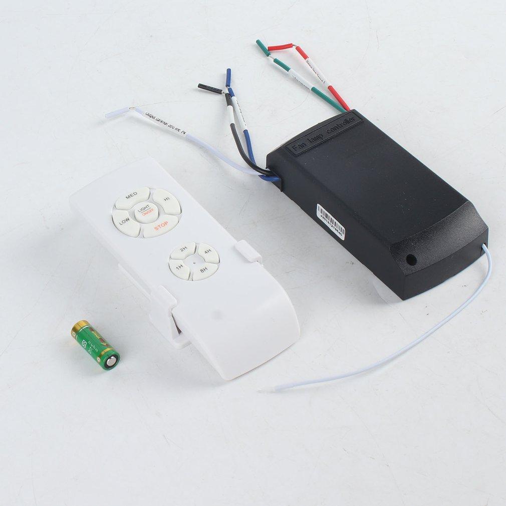 Универсальный комплект для лампы потолочного вентилятора с дистанционным управлением 110-240 в беспроводной Таймер переключатель с регулиро...