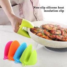 Forno-guantes de silicona antiescalante, potera de silicona, para churrasco, banda, pote, tigela, titanio