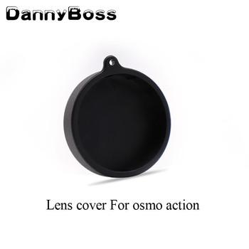 Miękki gumowy obiektyw pokrywa ochronna etui do kamery sportowej DJI OSMO tanie i dobre opinie DannyBoss FLW310 Action Camera Akcesoria Zestawy Pakiet 1 Soft Rubber OSMO ACTION for DJI Osmo Action Camera