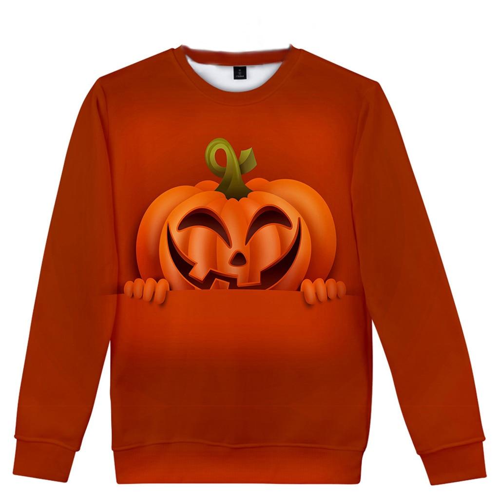 Women Halloween Top Ladies Long Sleeve Pumpkin Print Top,Black Hooded Pullover Sweatshirt,Girls Solid Color Blouse Polyester Jumper Printed Coat Outwear for Outdoor Sport Wear