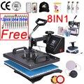 Doubl display 30*38 см 8 в 1 комбинированная машина для термопечати 2D машина для теплопередачи сублимационный принтер для крышки кружки пластины фут...