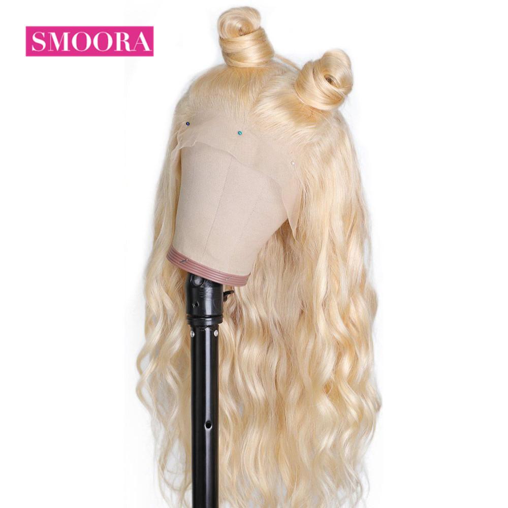 613 Lace Front Honey Blonde Wig  Body Wave Wigs  150% Density  Transparent 13x4 Lace Front Wig 6