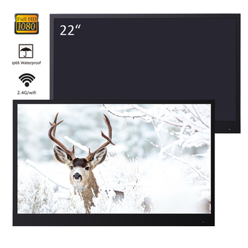 Souria 22 inches Black Full HD Bathroom Luxury LED Smart Android TV Waterproof Decoration Hotel Used Frameless 1