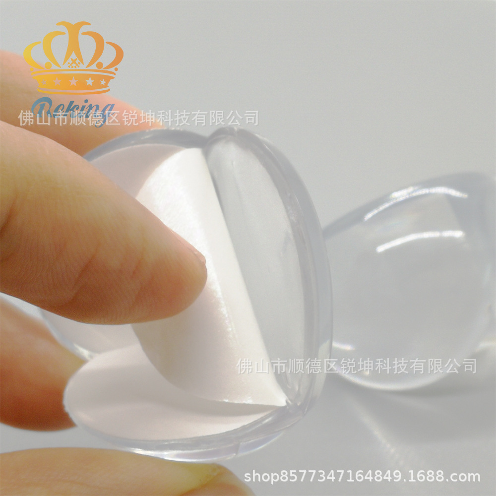 Transparent Spherical Glass Coffee Table Transparent Corner Protector Safe Protective Angle Safe Protection Sleeve Corner Guard