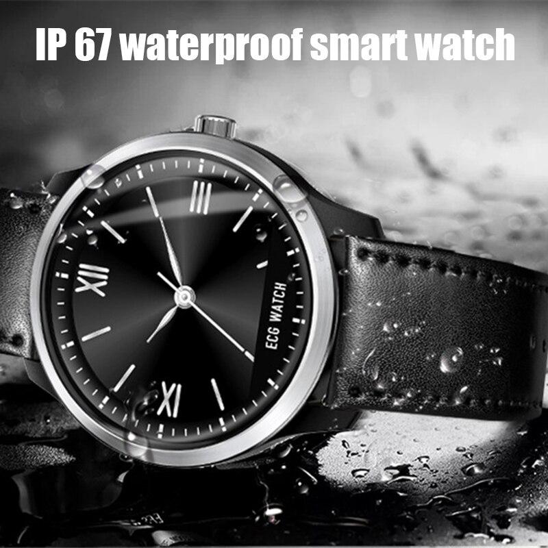 LIGE 2019 nuevo reloj inteligente N58 ECG para hombre pulsera deportiva impermeable IP67 Monitor de frecuencia cardíaca pulsera inteligente de presión arterial + caja - 5