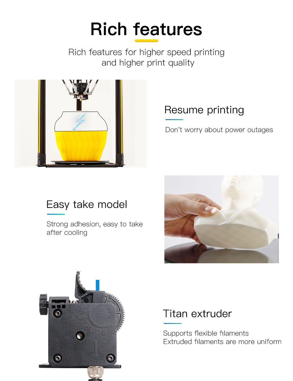 Flsun Q5 Delta 3D Printer With Auto-Level Sensor And Resume Pre-Assembly Feature
