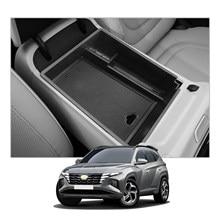 RUIYA для Tucson NX4 2021 ящик для хранения в подлокотнике автомобиля Центральной Управление авто Интерьер Организатор аксессуары черный