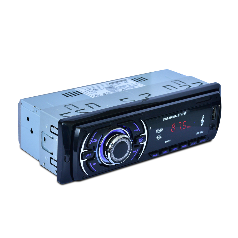 1 Din <font><b>Car</b></font> Radio Audio Stereo DC 12V AUX USB U-<font><b>Disk</b></font> FM Radio Station Bluetooth Autoradio MP3 Player with steering <font><b>wheel</b></font> control image
