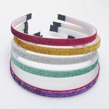 5Pieces /lot New Girls Hair Bands Children Glitter Headbands Kids Fashion Step Teeth Hair Accessories Top Quality Headwear