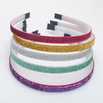 5Pieces /lot New Girls Hair Bands Children Glitter Headbands Kids Fashion Step Teeth Accessories Top Quality Headwear