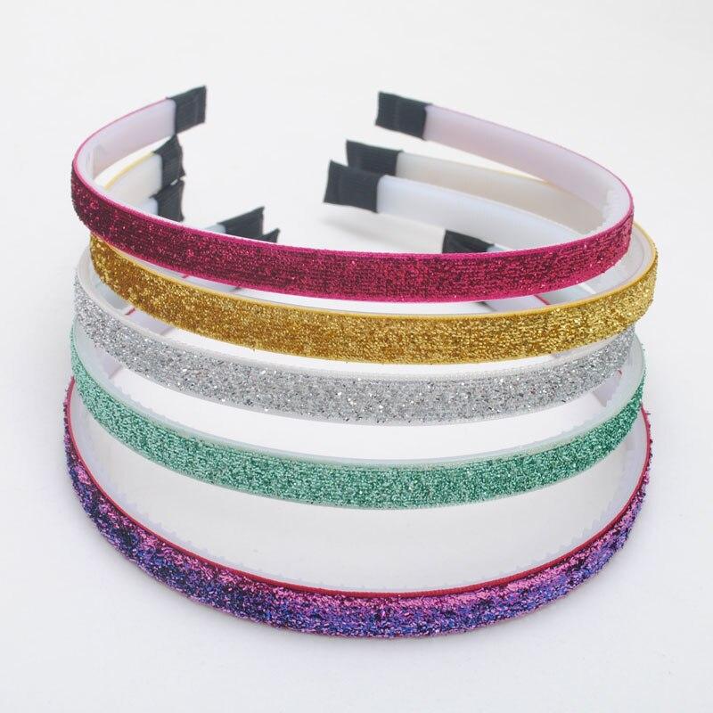 5Pieces /lot New Girls Hair Bands Children Glitter Headbands Kids Fashion Step Teeth Hair Accessories Top Quality Headwear(China)