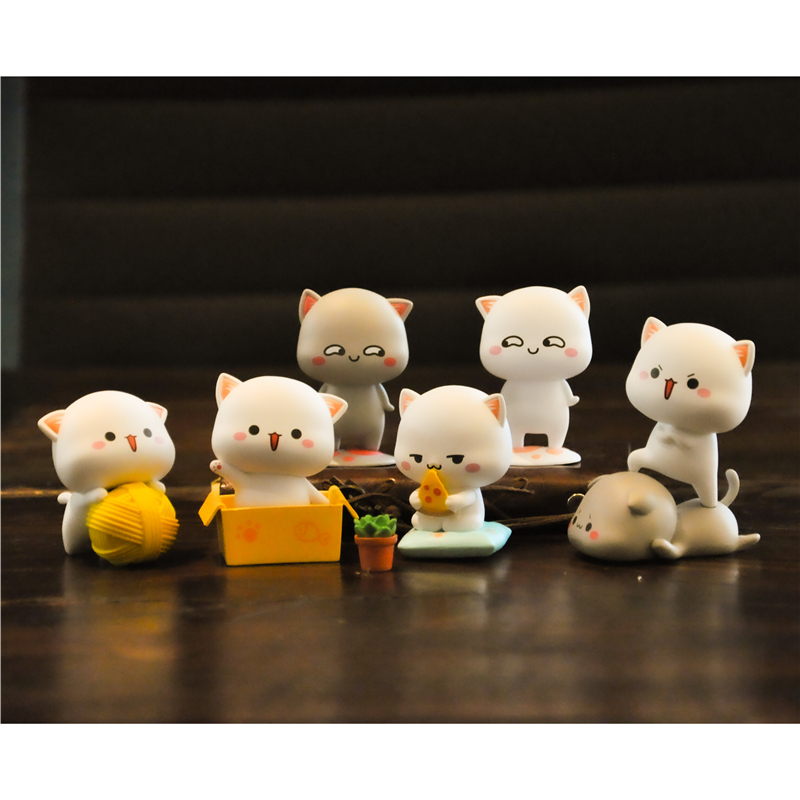 Blind Box Peach Cat Lucky Cat Cheap Cute Cat Series Hand To Do Desktop Decoration Doll Popular Toy Authentic