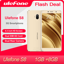 Ulefone S8 Mobile Phone 5.3 inch HD Quad Core Android 1GB+8GB Dual camera 13MP 3G Smartphone