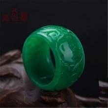 Кольцо из натурального зеленого нефрита, ювелирное изделие, браслет из драгоценного камня, кольцо из нефрита, камни из нефрита для женщин и мужчин, ювелирное изделие, изумрудные кольца