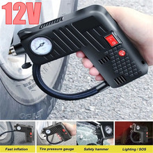 12V air compressor motorcycle air pump LED Safety Hammer Compressor For Motorcycle Electric Auto Car Bike for volvo car 7h15 air conditioner compressor pump with pulley 11104419 11412632 15082742