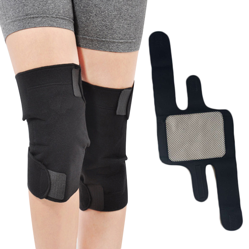 1 Pair Magnetic Knee Support Brace Tourmaline Belt Therapy Self Heating Knee Protective Pain Relief Health Care Knee Massager