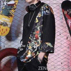 Image 4 - スーパー特大プラスサイズ潮ブラザー秋ルースラウンドネック半袖tシャツ厚い紳士服 10XL 11XL 9XL