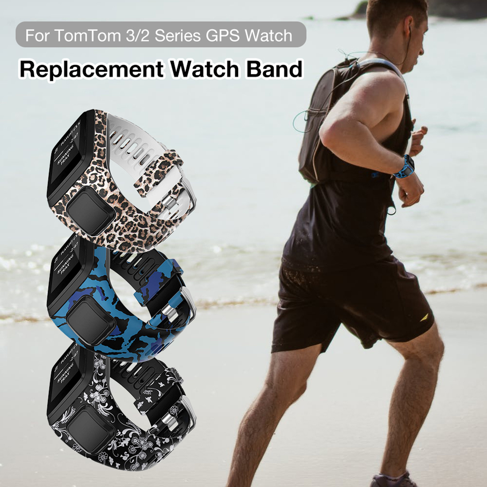 Silicone Replacement Wrist Watch Bracelet For TomTom Runner 2 3 Spark 3 GPS Sport Watch Tom 2 3 Series Smart Bracelet Soft