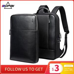 Image 1 - BOPAI 2 in 1 Rucksäcke für Männer Abnehmbare 15,6 zoll Laptop Rucksack Männlichen Wasserdichte Notebook Schlank Zurück Pack Schule Tasche