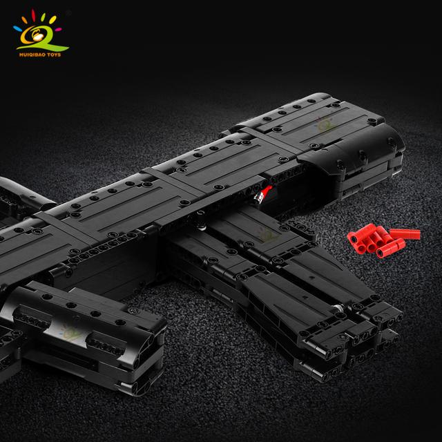 HUIQIBAO 787+PCS 95 Automatic Rifle Gun model Building Blocks set DIY Shooting Game Technic Bricks City Toys For Children BOY