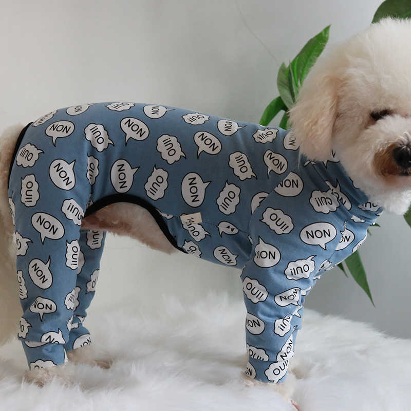 Pet Dog Jumpsuit Four Feet Thin 100%Cotton Overalls Puppy Clothes For Small Dogs Pajamas Long Sleeve Sweatshirt Chihuahua Poodle