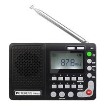 Retekess TR102 라디오 FM AM SW 스피커 MP3 플레이어 3.5mm AUX USB TF 카드 마이크 녹음 세계 밴드 수신기 LCD 디스플레이 화면 REC