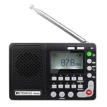 Retekess TR102 radio fm AM SW głośnik odtwarzacz MP3 3.5mm AUX USB TF karta MIC nagrywanie odbiornik krótkofalarski ekran wyświetlacza LCD REC