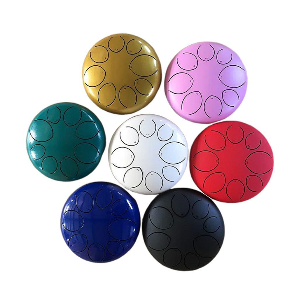 8 pouces 8 Notes langue en acier tambour Style fleur avec maillets livre de musique sac Instrument de Percussion de haute qualité livraison rapide