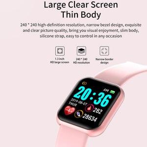Image 3 - ساعة ذكية الرجال 1.3 اللون شاشة تعمل باللمس عداد الخطى جهاز تعقب للياقة البدنية ساعة Ip67 مقاوم للماء الرياضة Smartwatch النساء ل أندرويد IOS