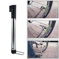 Bicicleta portátil mini bomba de mão mtb mountain bike ciclismo bomba de ar bola brinquedo pneu inflator válvula bomba|Bombas bic.| |  -