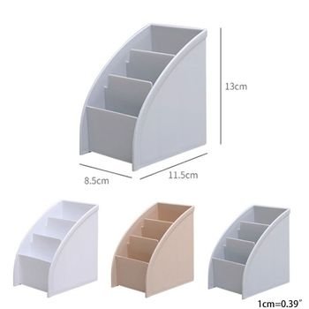 3 Grid Remote Control Box Cosmetics Desktop Storage Case Stand Holder Home Office Stationery Phone Organizer