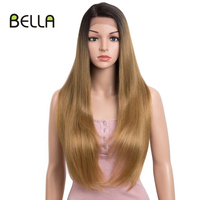 BELLA Straight Hair Synthetic Lace Front Wigs Blonde Wig 28