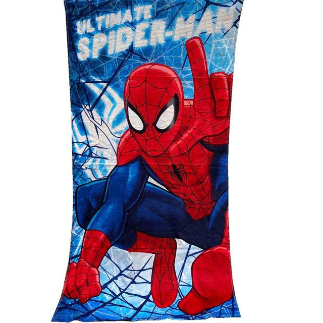 Character Kids Towel Poncho Swimming Sea Pool Beach 100/% Cotton Spiderman Print