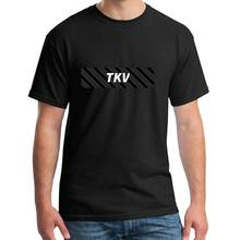 Graphic tkv stripe bogo t-shirts male female big size s~5xL famous hiphop tops(China)